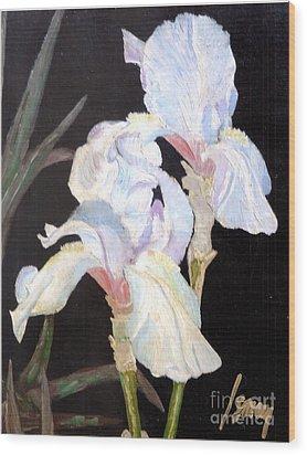 Blue Iris Wood Print by Rod Ismay