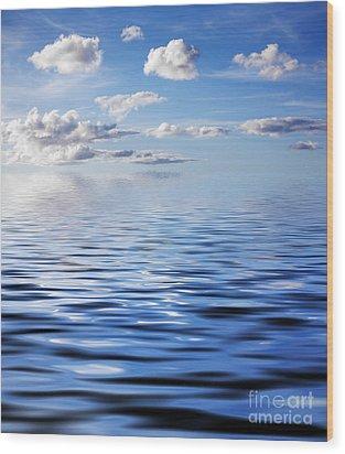 Blue Sky Wood Print by Kati Molin