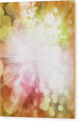 Bright Background Wood Print by Les Cunliffe