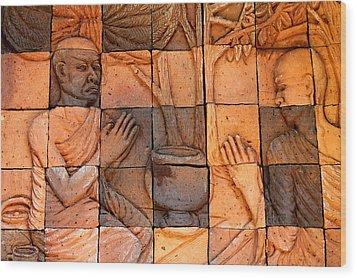 Buddha Image  Wood Print by Panyanon Hankhampa