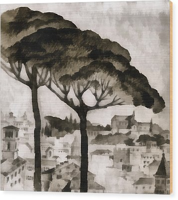 By Italy Wood Print by Odon Czintos