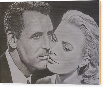 Cary Grant And Grace Kelly Wood Print by Mike OConnell