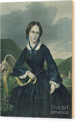 Charlotte Bront� Wood Print by Granger