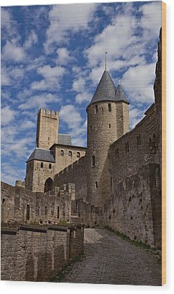 Chateau Comtal Of Carcassonne Fortress Wood Print by Evgeny Prokofyev