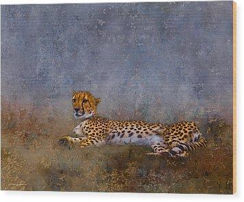 Cheetah Wood Print by Ron Jones