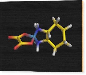 Chemotherapy Drug Molecule Wood Print by Dr Tim Evans