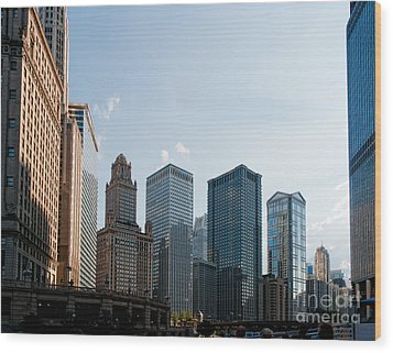 Chicago City Center Wood Print