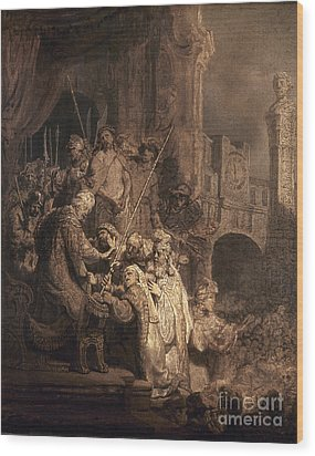 Christ Before Pilate Wood Print by Granger