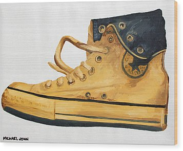 Chucks Wood Print by Michael Ringwalt