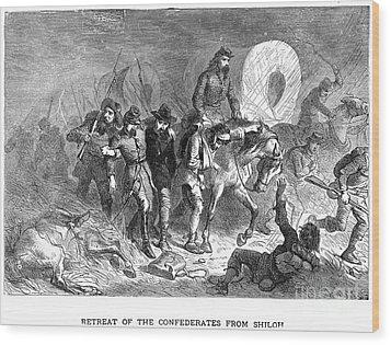 Civil War: Shiloh, 1862 Wood Print by Granger