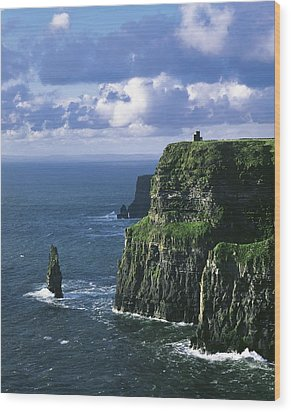Cliffs Of Moher, Co Clare, Ireland Wood Print by The Irish Image Collection