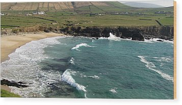 Wood Print featuring the photograph Clogher Beach by Barbara Walsh