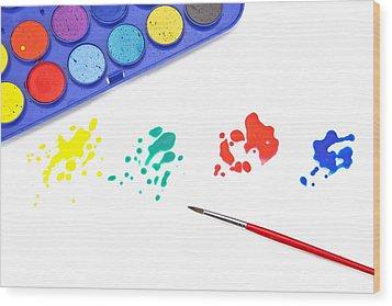 Color Splash Wood Print by Joana Kruse