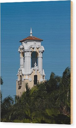 Wood Print featuring the photograph Congregational Church Tower by Ed Gleichman