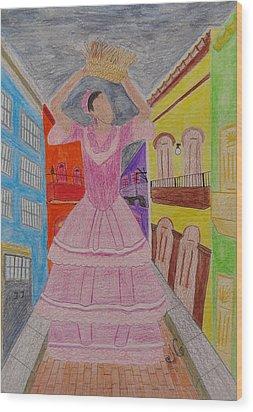 Dancer In Viejo San Juan Wood Print by Jessica Cruz