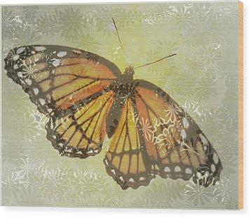 Designer Butterfly Collection Wood Print by Debra     Vatalaro