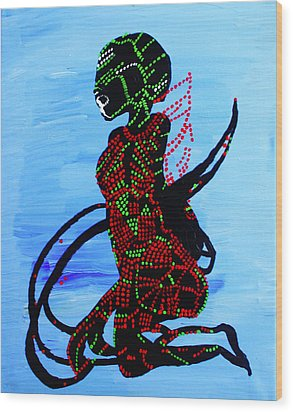 Dinka Bride - South Sudan Wood Print by Gloria Ssali
