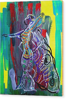 Dinka Lady - South Sudan Wood Print by Gloria Ssali