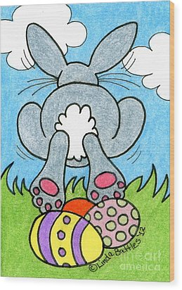 Easter Bunny Retreat Wood Print