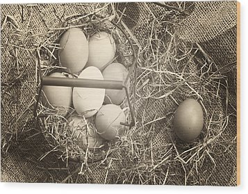 Eggs Wood Print by Joana Kruse