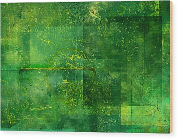 Emerald Heart Wood Print by Christopher Gaston