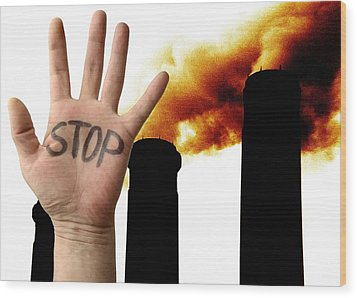 Environmental Protest Wood Print by Victor De Schwanberg