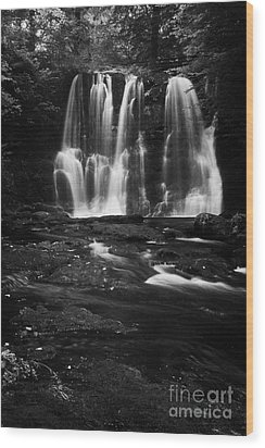 Ess-na-crub Waterfall On The Inver River In Glenariff Forest Park County Antrim Northern Ireland Uk Wood Print by Joe Fox