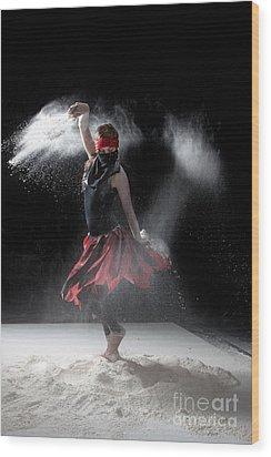 Flour Dancer Series Wood Print by Cindy Singleton