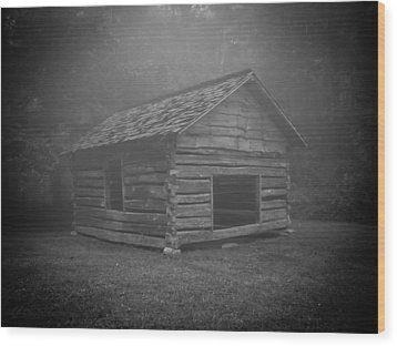 Foggy Mountain Morning Wood Print by Victoria Ashley