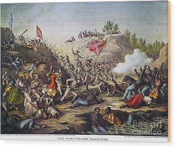 Fort Pillow Massacre, 1864 Wood Print by Granger