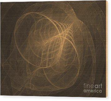 Fractal Image Wood Print by Ted Kinsman