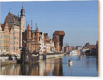 Gdansk In Poland Wood Print by Artur Bogacki