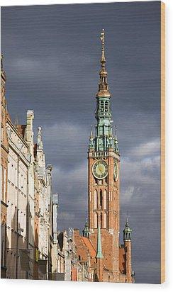 Gdansk Old Town Wood Print by Artur Bogacki