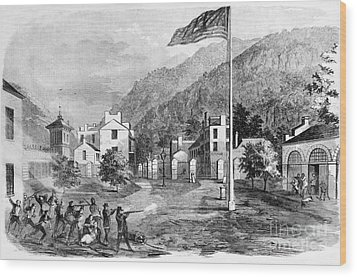 Harpers Ferry Insurrection, 1859 Wood Print by Photo Researchers