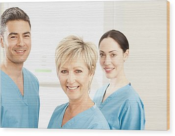 Hospital Staff Wood Print by