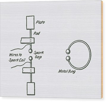 Illustration Of Hertzs Oscillator Wood Print by Science Source