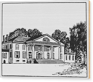 James Madison: Montpelier Wood Print by Granger