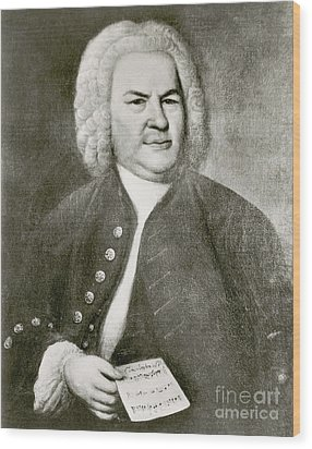 Johann Sebastian Bach, German Baroque Wood Print by Photo Researchers