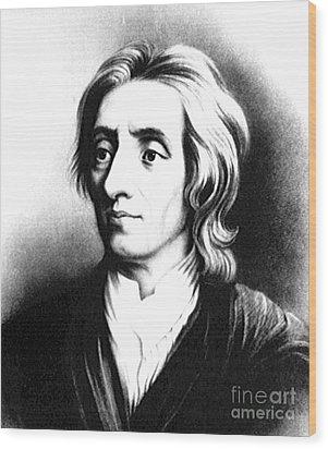 John Locke, English Philosopher, Father Wood Print by Science Source