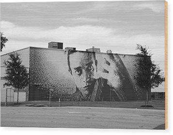 Johnny Cash Wood Print by Rob Hans