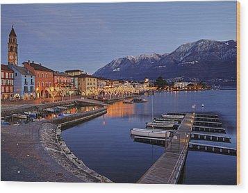 Lake Maggiore - Ascona Wood Print by Joana Kruse