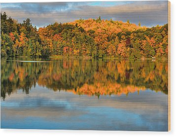 Lake Reflections Wood Print by Andre Faubert