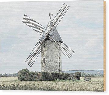 Largny Mill Largny Sur Automne France Wood Print by Joseph Hendrix