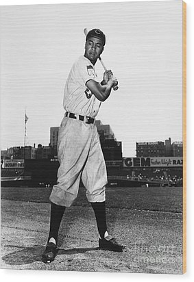 Larry Doby (1923-2003) Wood Print by Granger