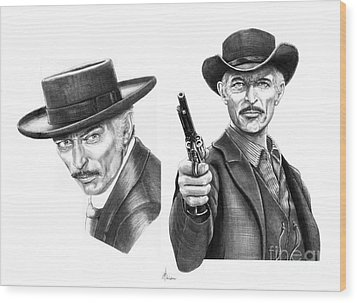 Lee Van Cleef Wood Print by Murphy Elliott