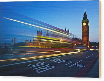 London Big Ben Wood Print by Nina Papiorek