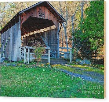 Lost Creek Bridge Wood Print by Jim Adams