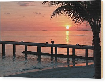 Maldives Morning  Wood Print by Shirley Mitchell