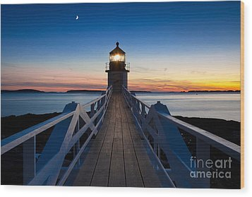Marshall Point Light Wood Print by Brian Jannsen