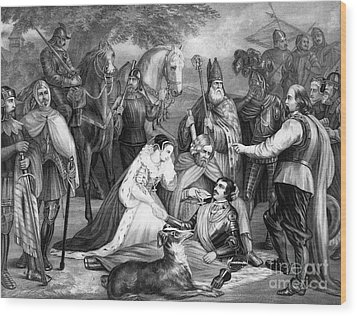 Mary Queen Of Scots Wood Print by Photo Researchers